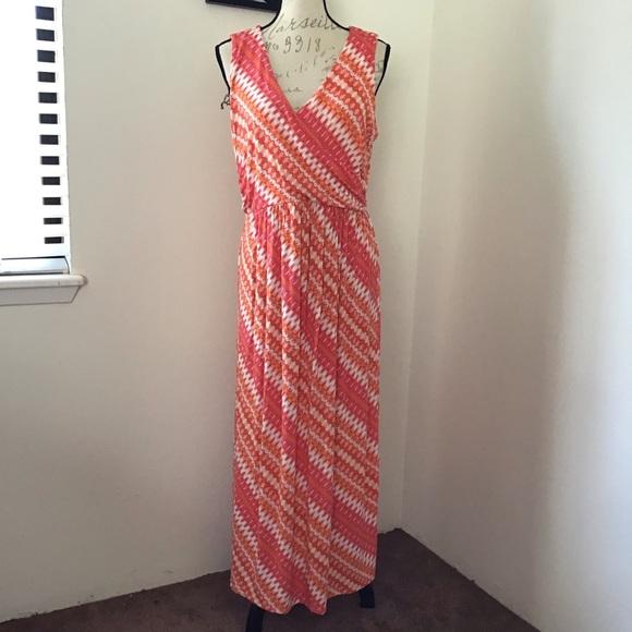 J. Jill Dresses & Skirts - J. Jill - Crossover Front Printed Maxi Dress